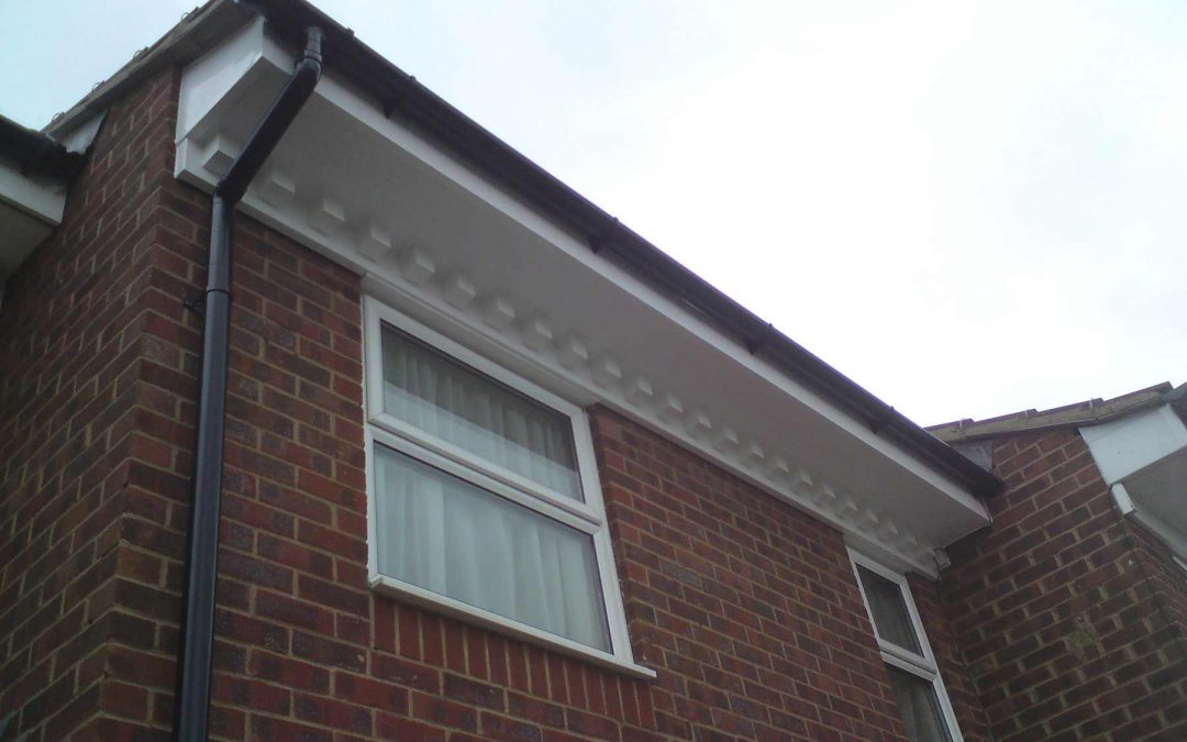 White uPVC Fascias and Soffits with Guttering in Kent